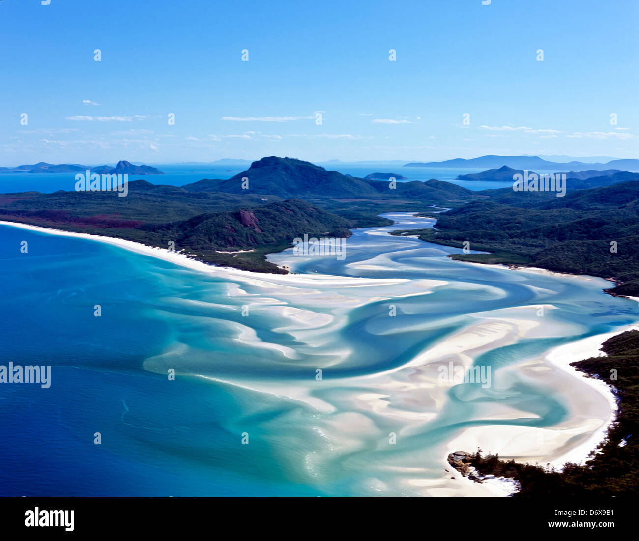 8630. Whitehaven Beach, Whitsunday Islands, Queensland, Australia - Stock Image