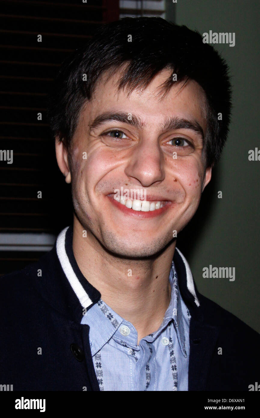 Gideon Glick Opening night after party for 'An Iliad' at the New York Theatre Workshop. New York City, USA - Stock Image
