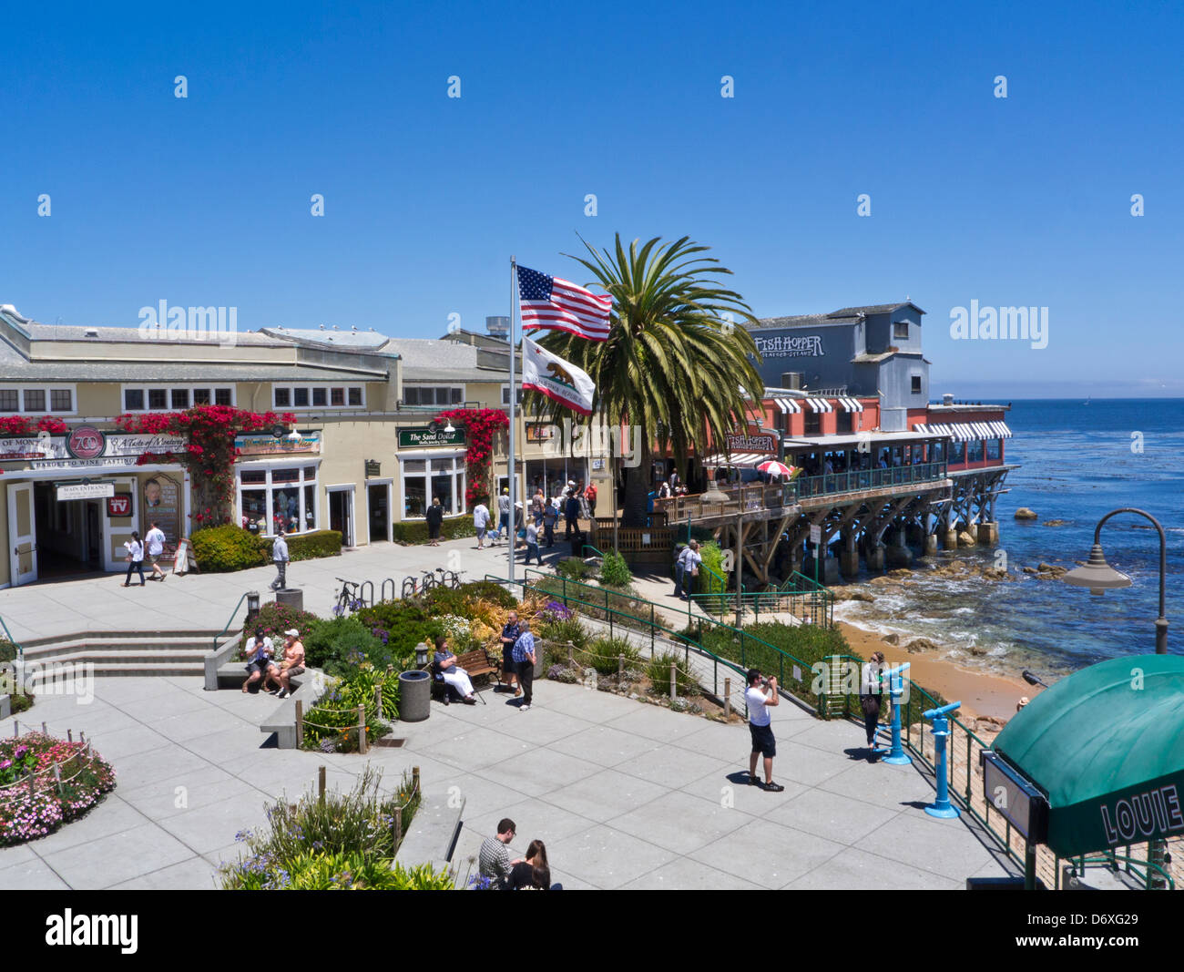 Cannery Row shops and restaurants complex Monterey California USA - Stock Image