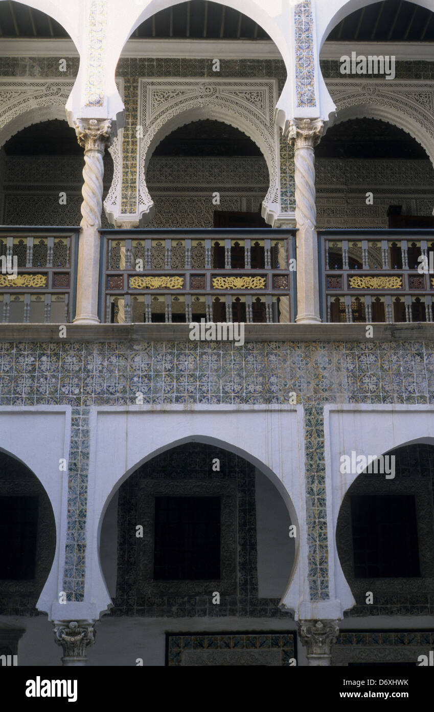 Dar Khedaoudj el amia / Musée national des arts et traditions populaires  National Museum of Popular Arts and - Stock Image