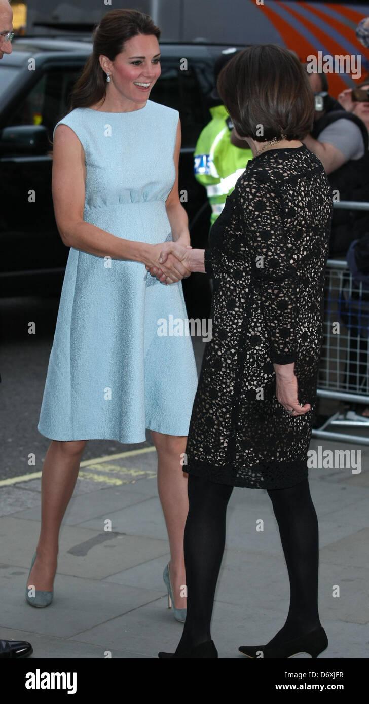 DUCHESS OF CAMBRIDGE BRITISH ROYAL FAMILY MEMBER 24 April 2013 NATIONAL PORTRAIT GALLERY LONDON ENGLAND UK - Stock Image