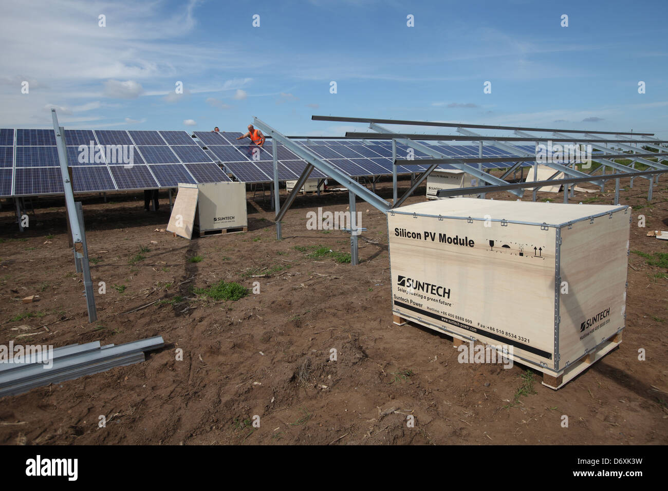 Oeversee, Germany, a solar park will bestueckt with Suntech modules - Stock Image