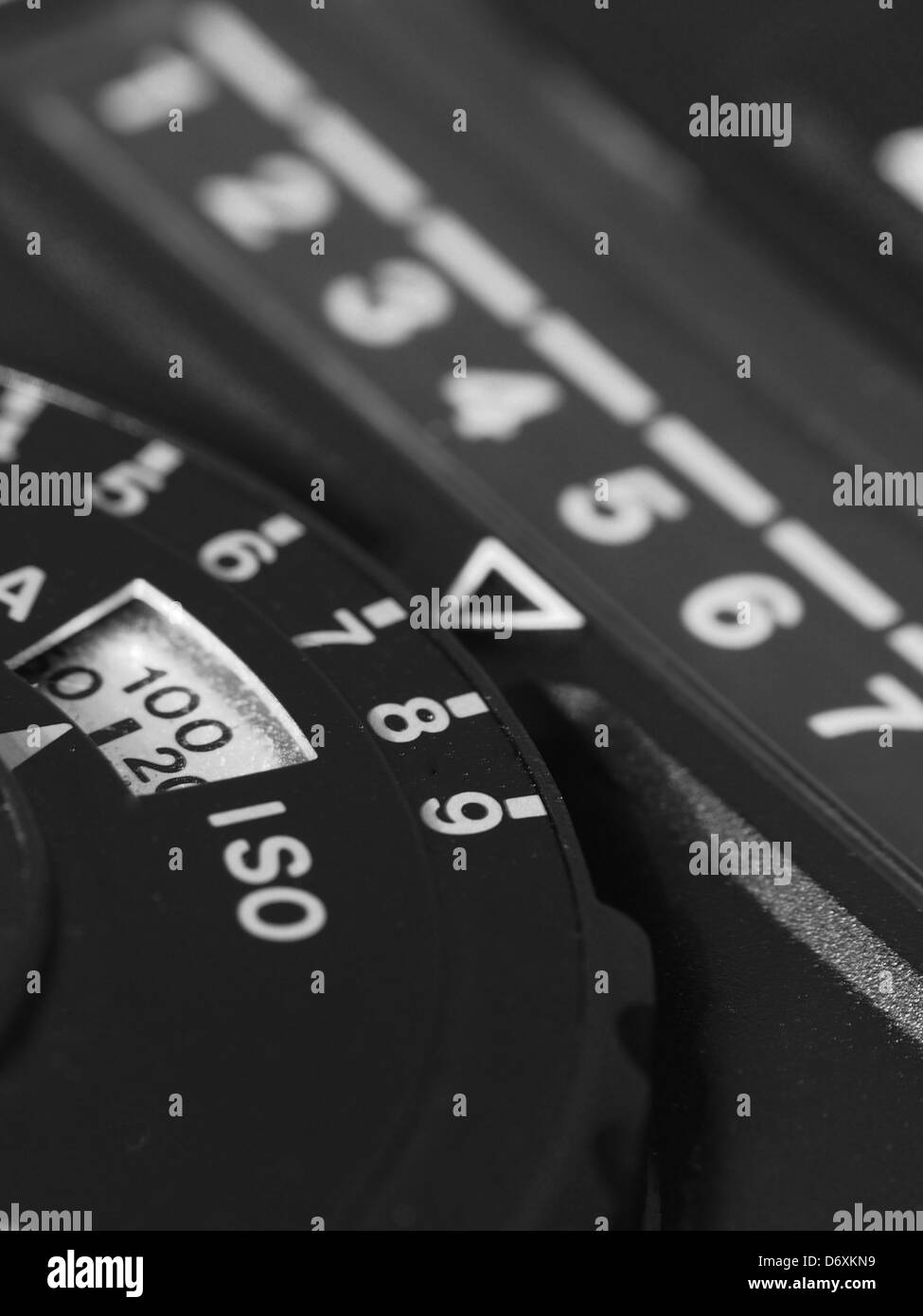 A close up of an old light meter - Stock Image