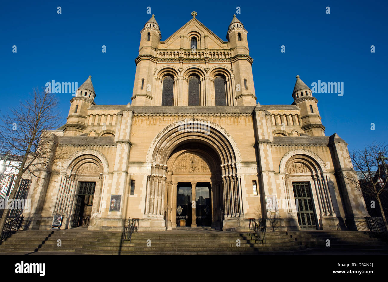 Frontage of Saint Anne's Cathedral, Donegall Street, Belfast - Stock Image