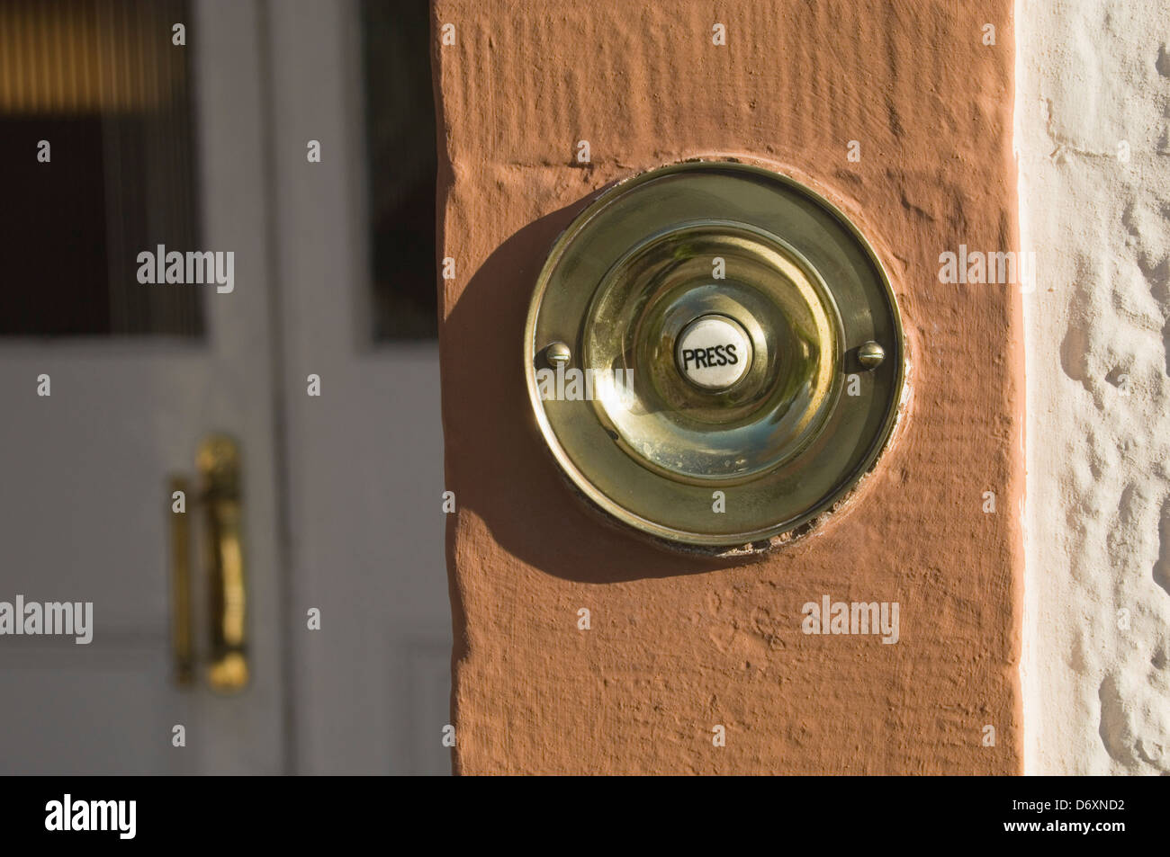 Front Door Bell Push Stock Photos Front Door Bell Push Stock