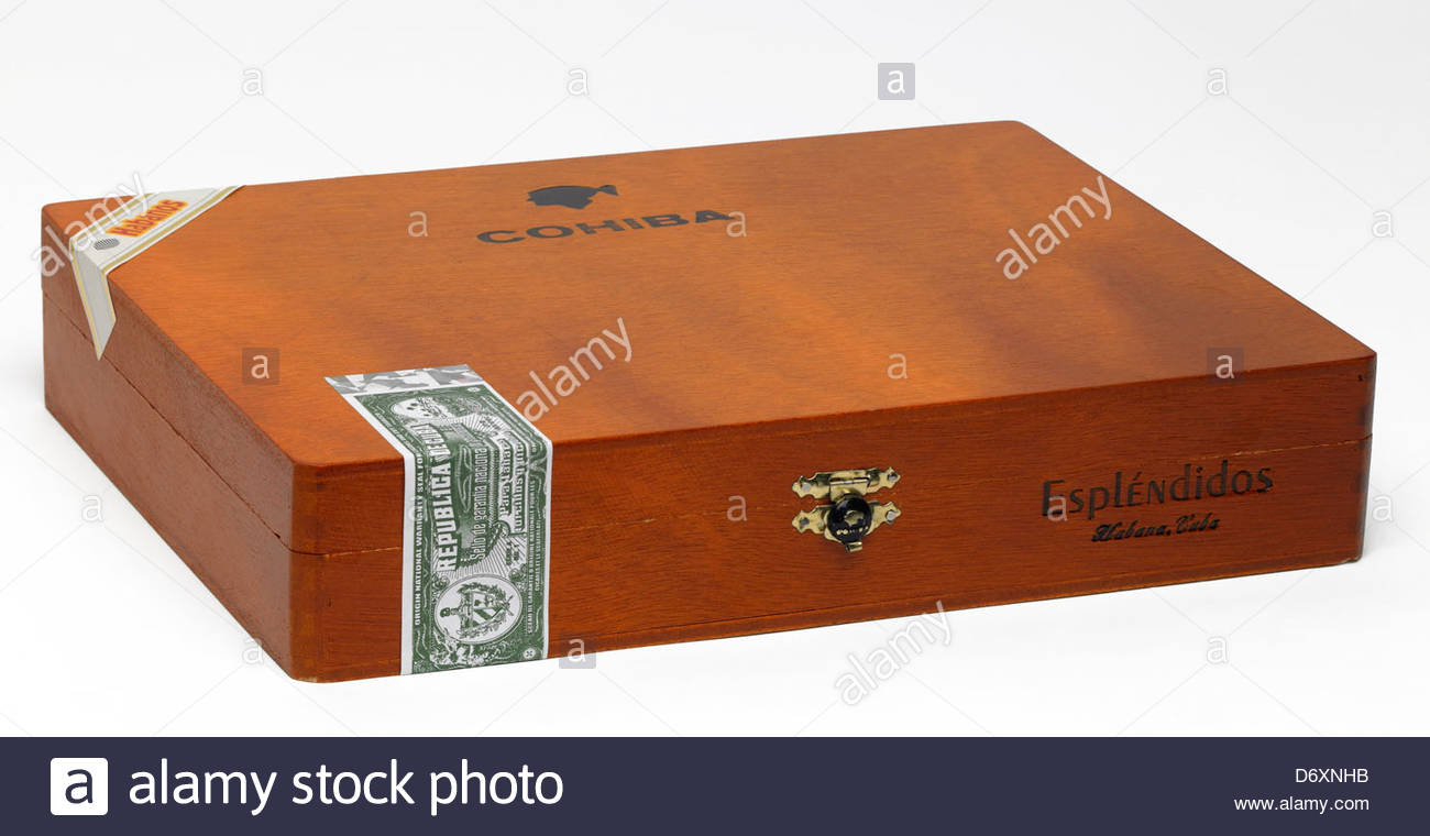 A Wooden Cohiba Cigar Box Stock Photo 55906743 Alamy