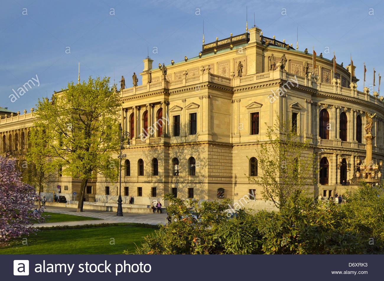 Rudolfinum Neo-Renaissance music auditorium building in Prague Czech Republic Europe - Stock Image
