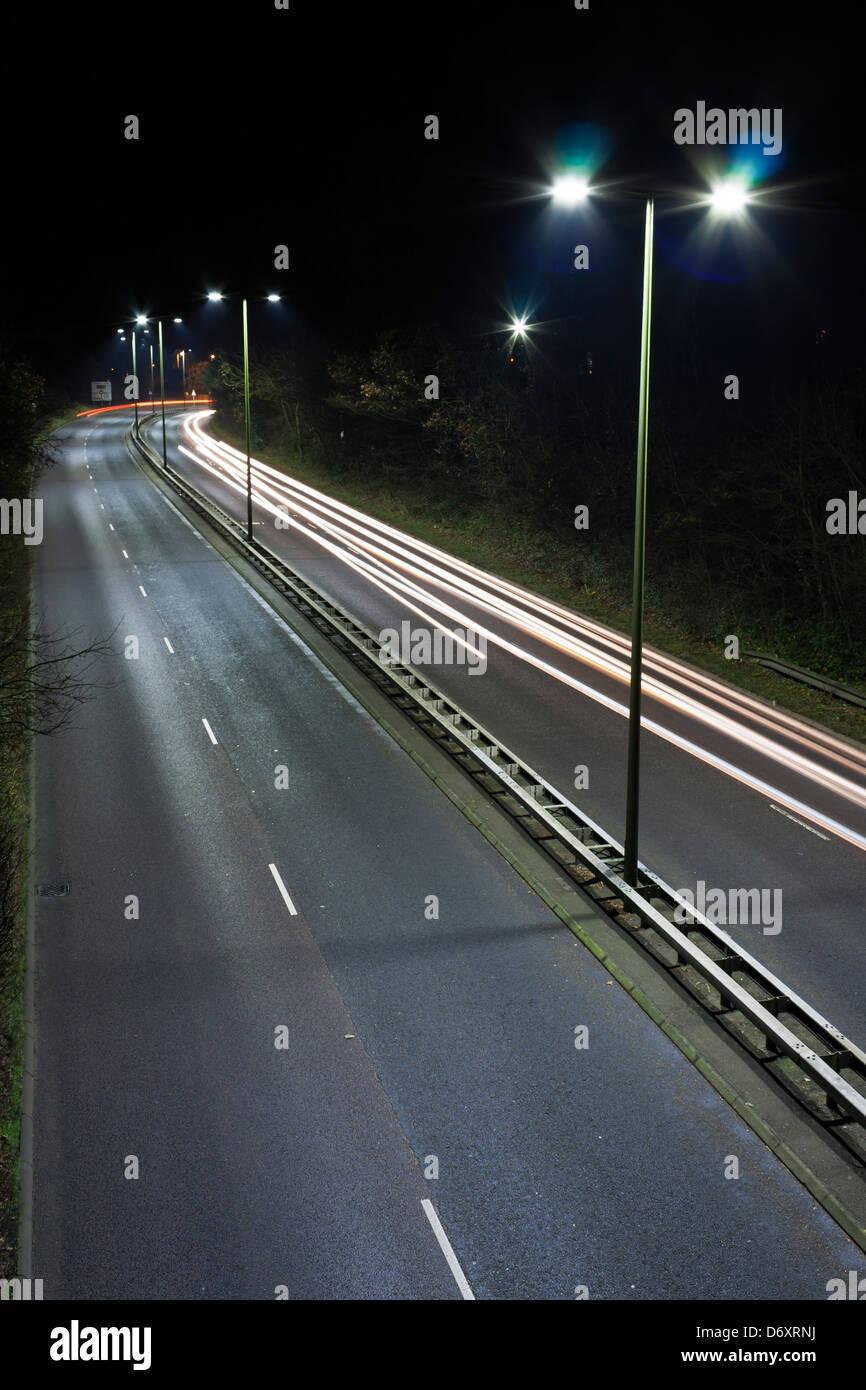 LED Street Lighting - Stock Image