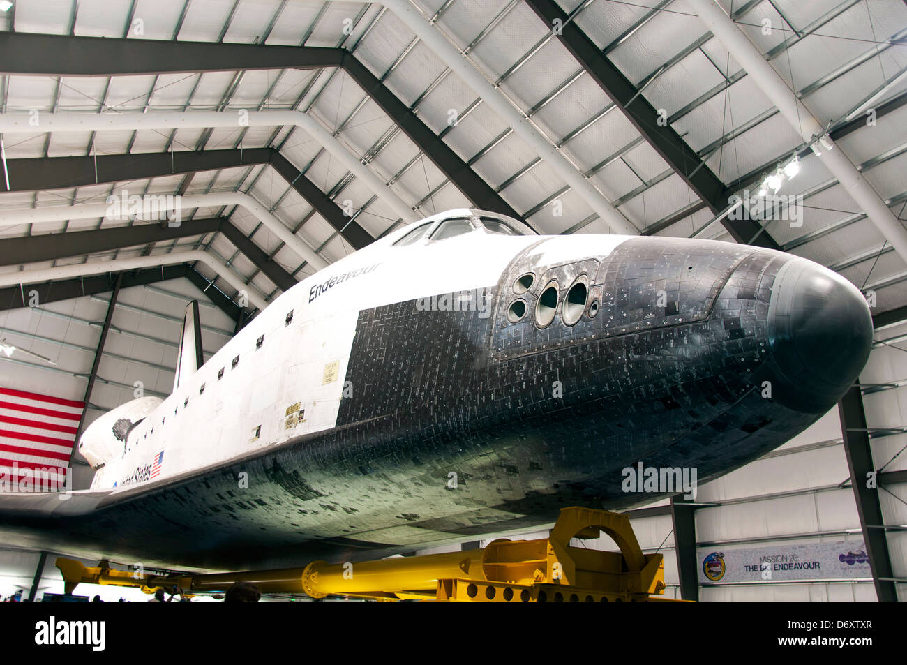 Space Shuttle Endeavour, California Science Center in Los Angeles. - Stock Image