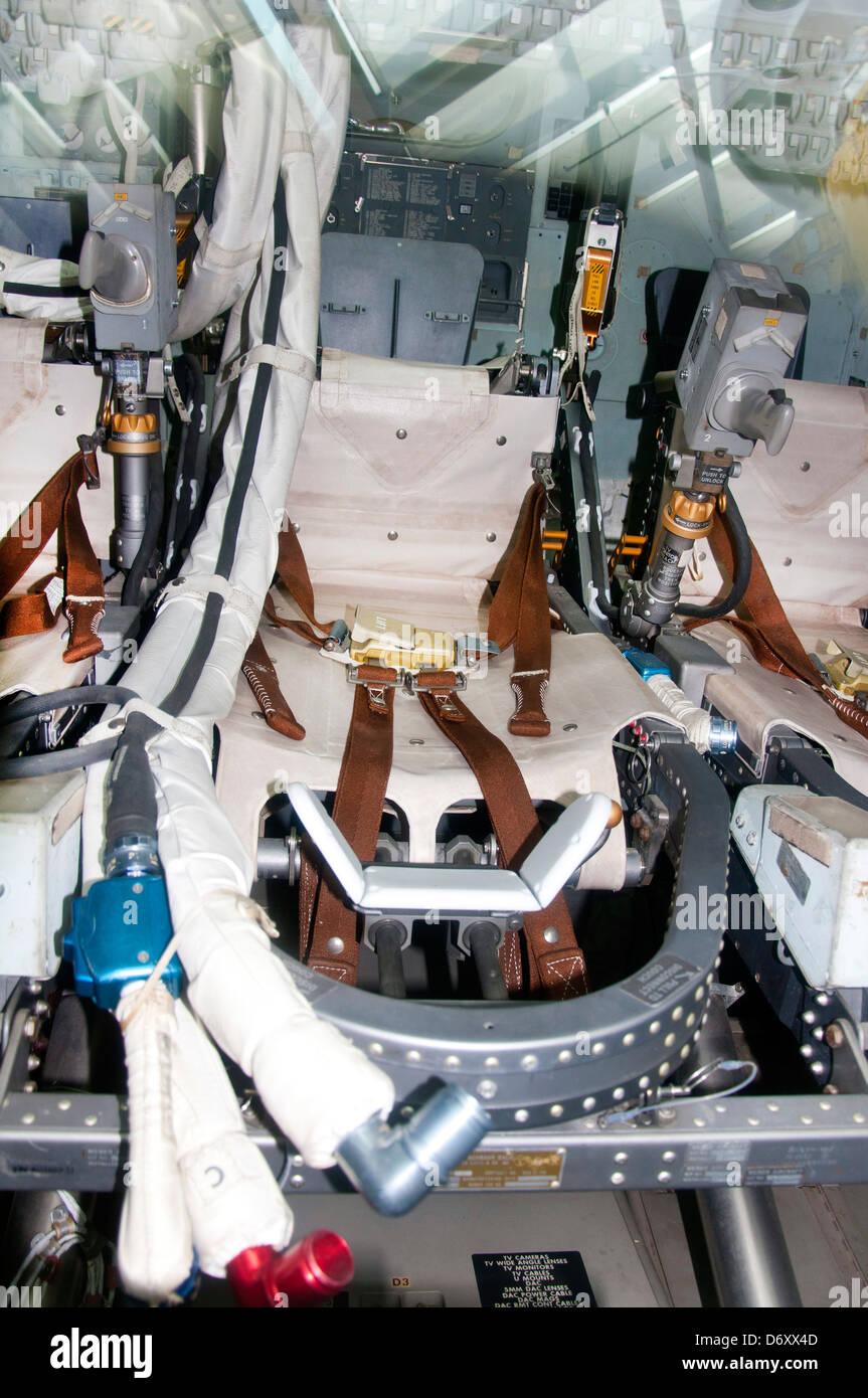 Apollo Command Module Space Capsule Interior  , California Science Center in Los Angeles - Stock Image