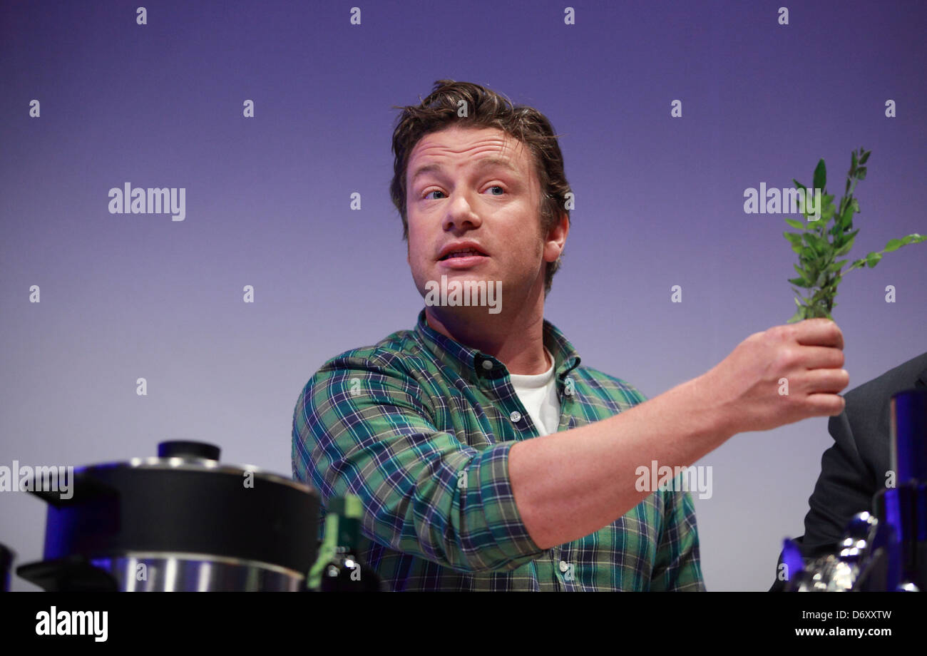 Berlin, Germany, celebrity chef Jamie Oliver, at a Produktpraesentation by Philips at IFA 2012 - Stock Image