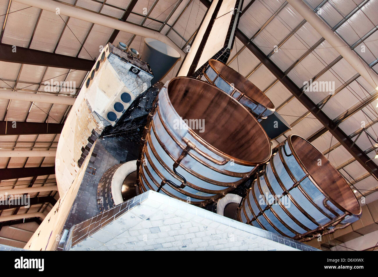 Space Shuttle Endeavour, California Science Center in Los Angeles - Stock Image