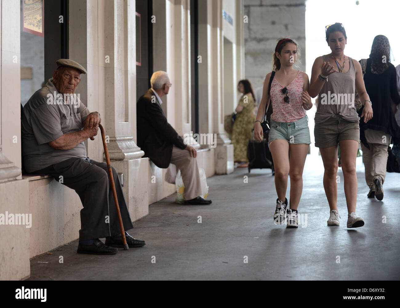 Nice, France, passers-by a passage in Nice City Centre - Stock Image
