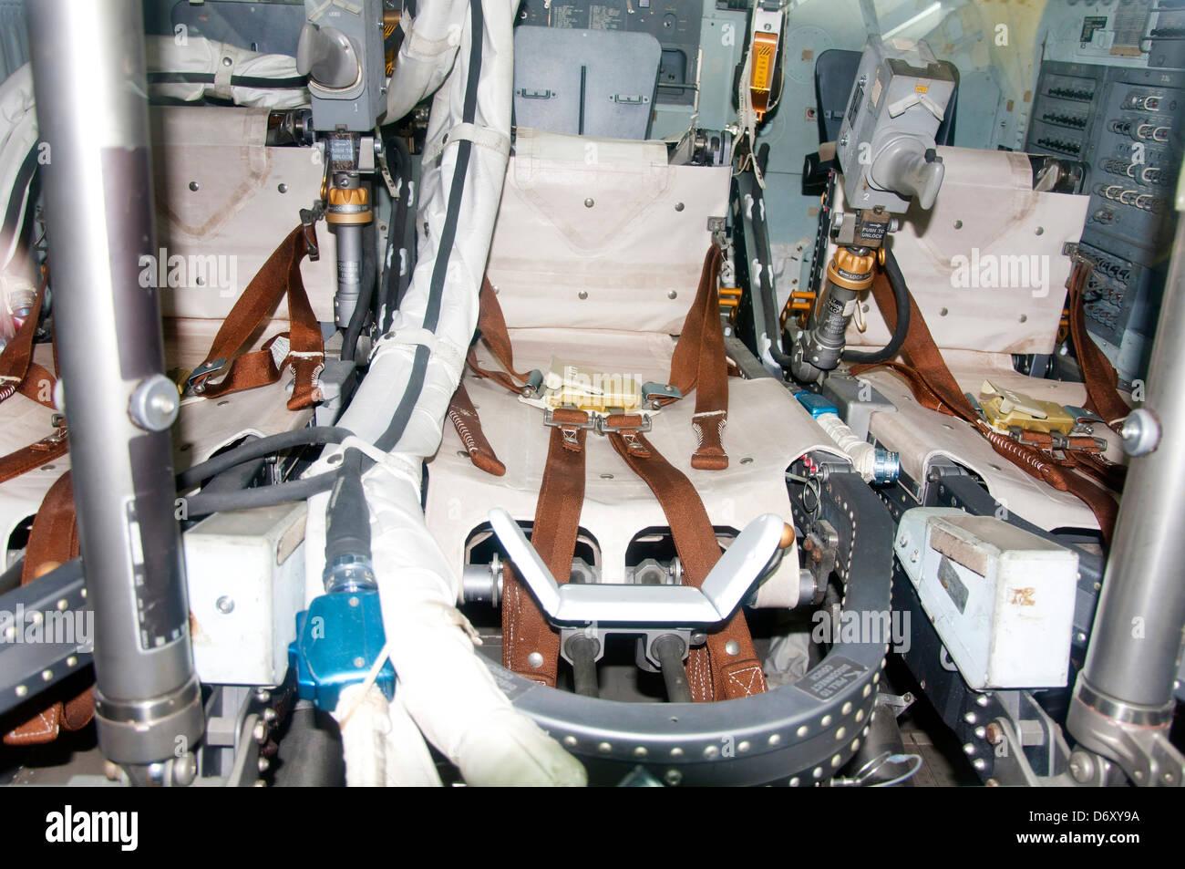 Apollo Command Module Space Capsule Interior, California Science Center in Los Angeles. - Stock Image