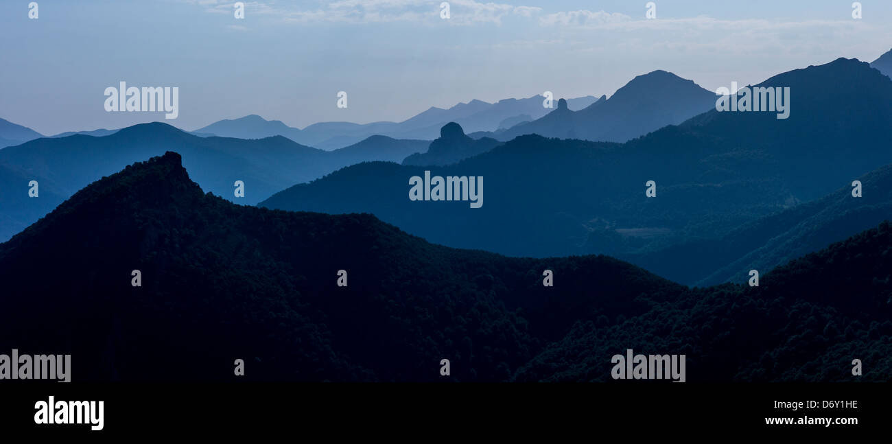 Picos de Europa mountain range near Potes, Asturias, Northern Spain - Stock Image