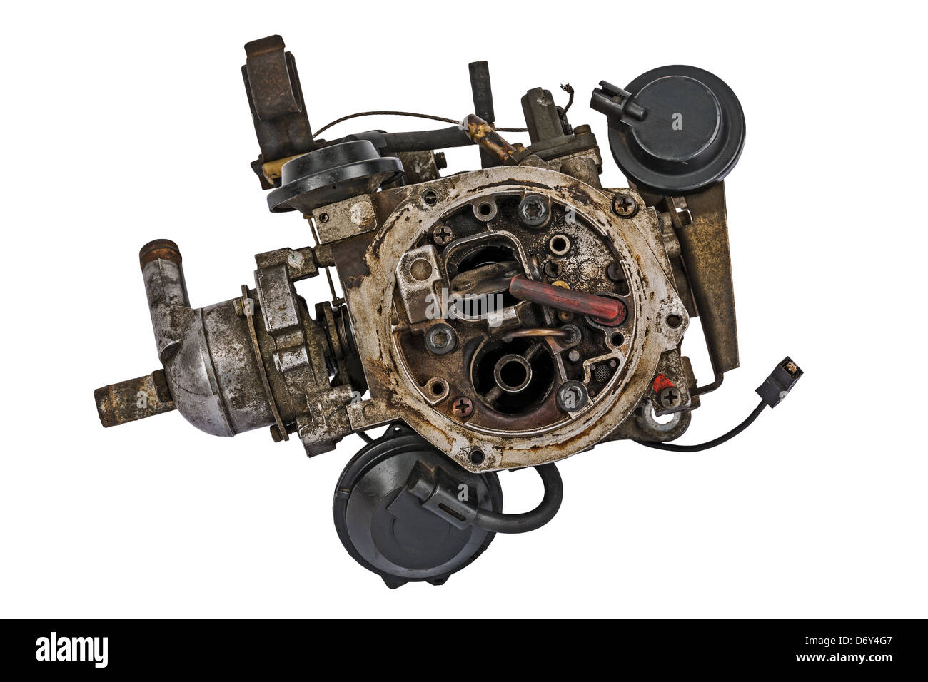 Worn out carburetor - Stock Image