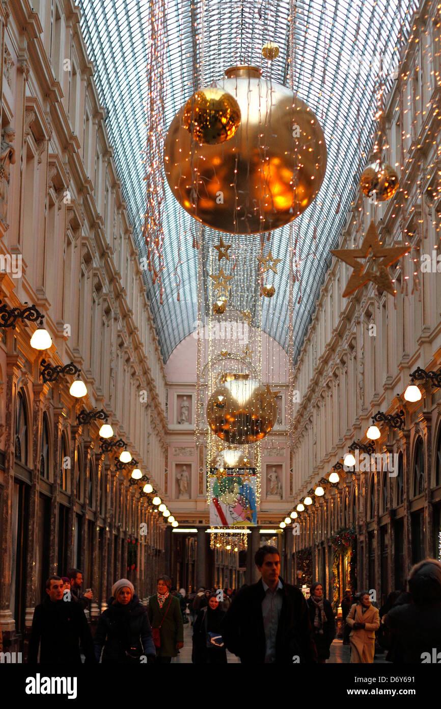 St Hubert Galleries, Brussels, Belgium. - Stock Image