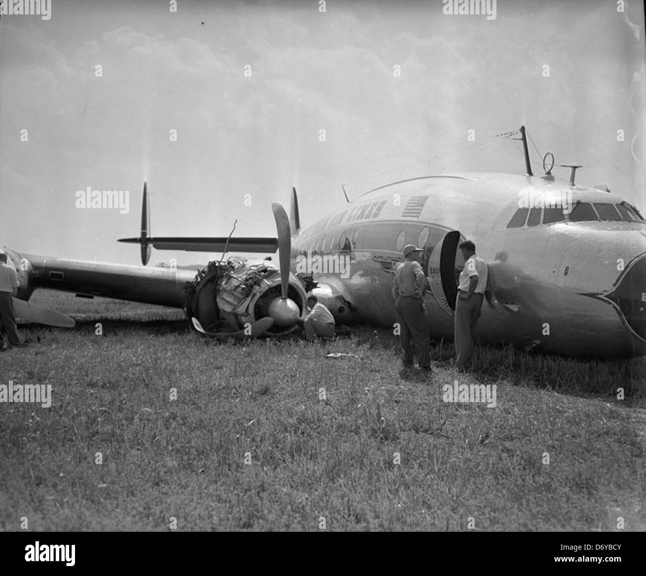 Eastern Air Liner crash landing, Curles Neck Farm - Stock Image