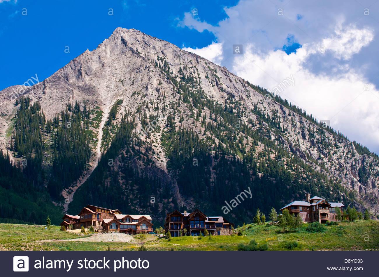 Mt. Crested Butte (ski resort), near Crested Butte, Colorado USA - Stock Image