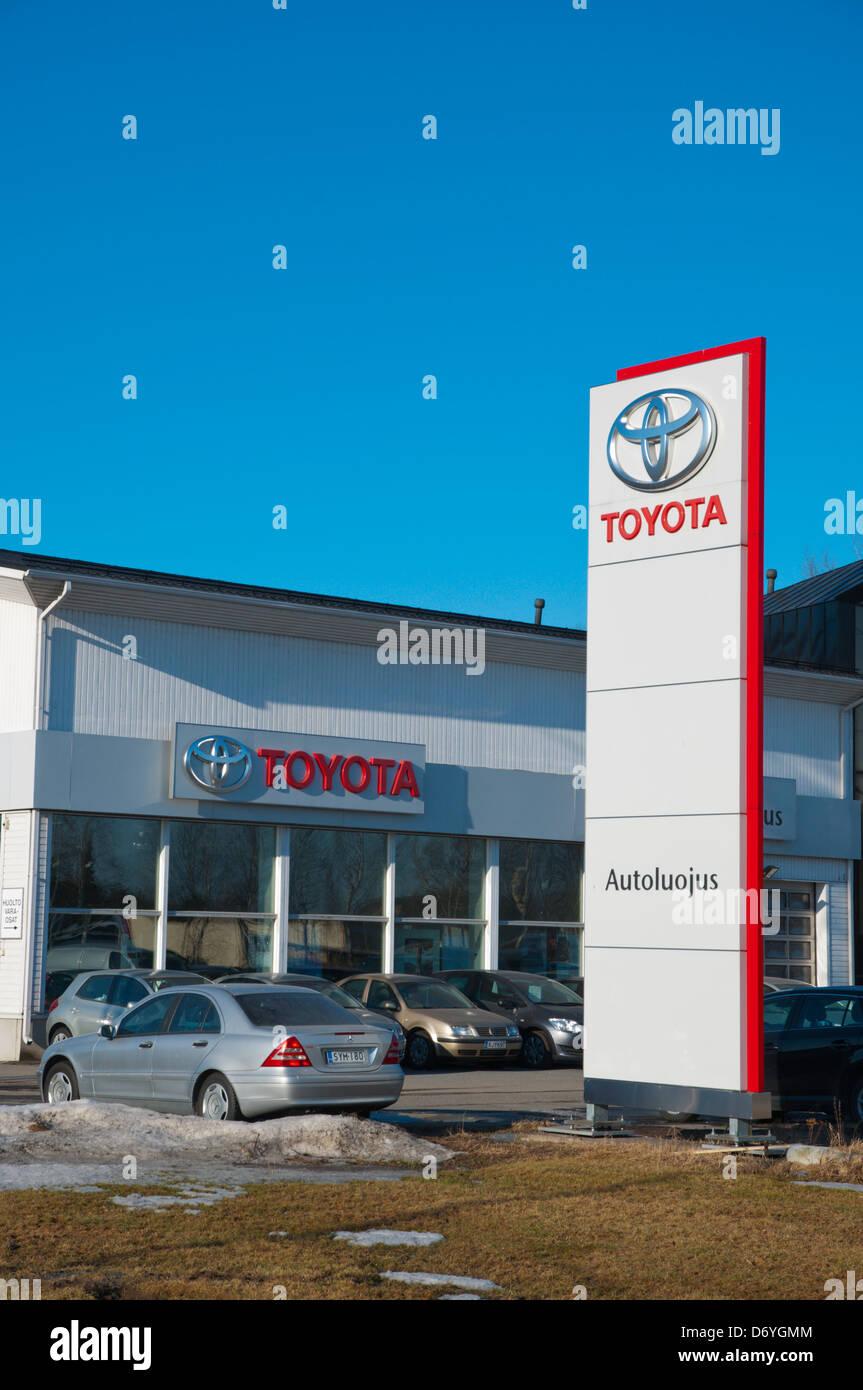 Toyota Car Dealership Pori Finland Europe Stock Photo 55924868 Alamy