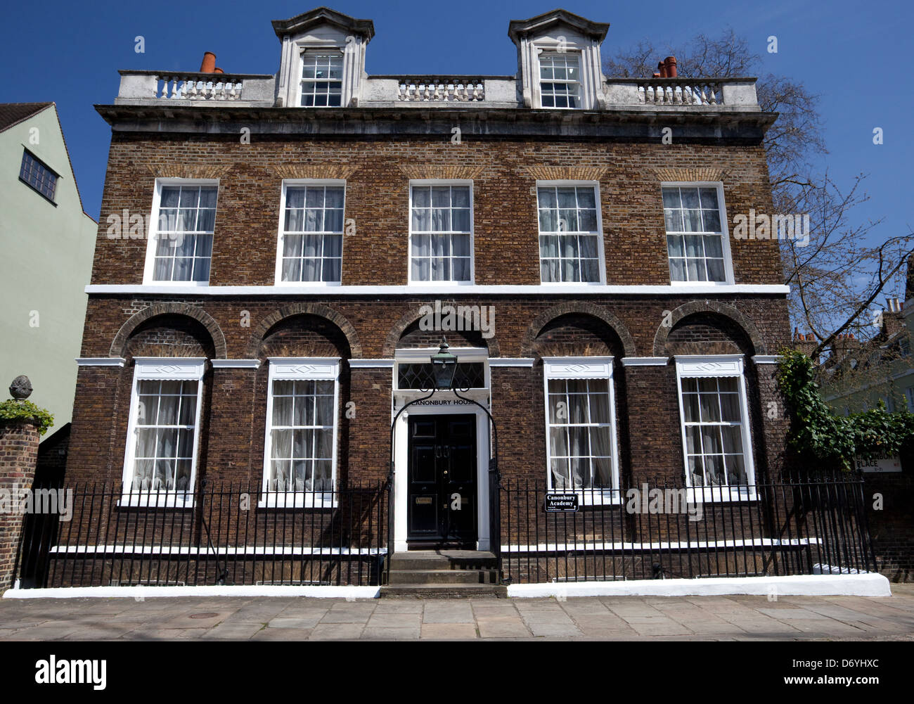 Canonbury House in Islington, London dates in part from the sixteenth century - Stock Image
