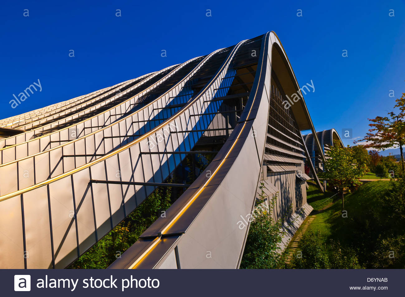 Exterior of the Zentrum Paul Klee (art gallery) by Italian architect Renzo Piano, Bern, Canton Bern, Switzerland Stock Photo