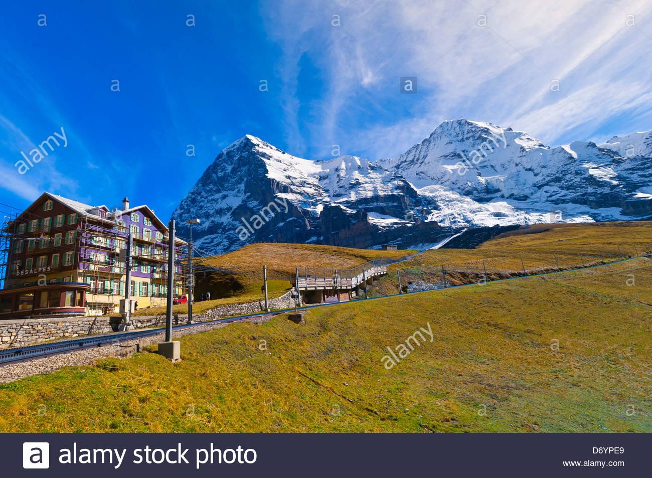 Kleine Scheidegg, Canton Bern, Switzerland - Stock Image