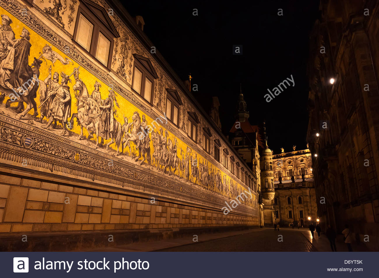 The 100 meter long Procession of Princes (the largest porcelain image in the world, made up of 25,000 tiles) which - Stock Image