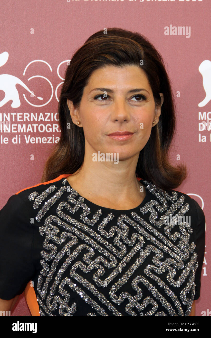Marisa Tomei 68th Venice Film Festival - Day 1- 'The Ides of March' - Photocall Venice, Italy - 31.08.11 - Stock Image