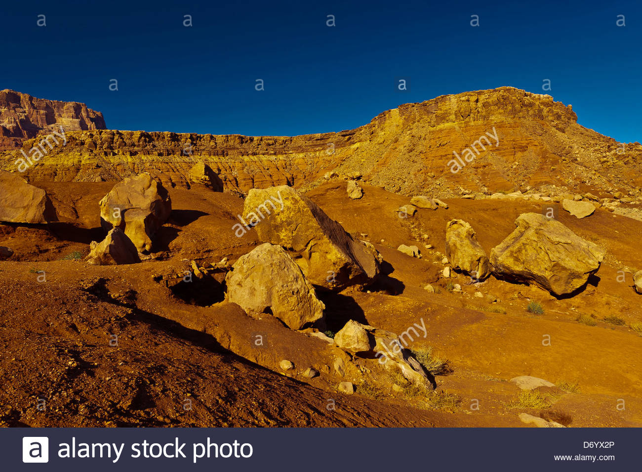 Rock formations at Cliff Dwellers, Paria Canyon-Vermillion Cliffs Wilderness Area, Arizona, USA - Stock Image