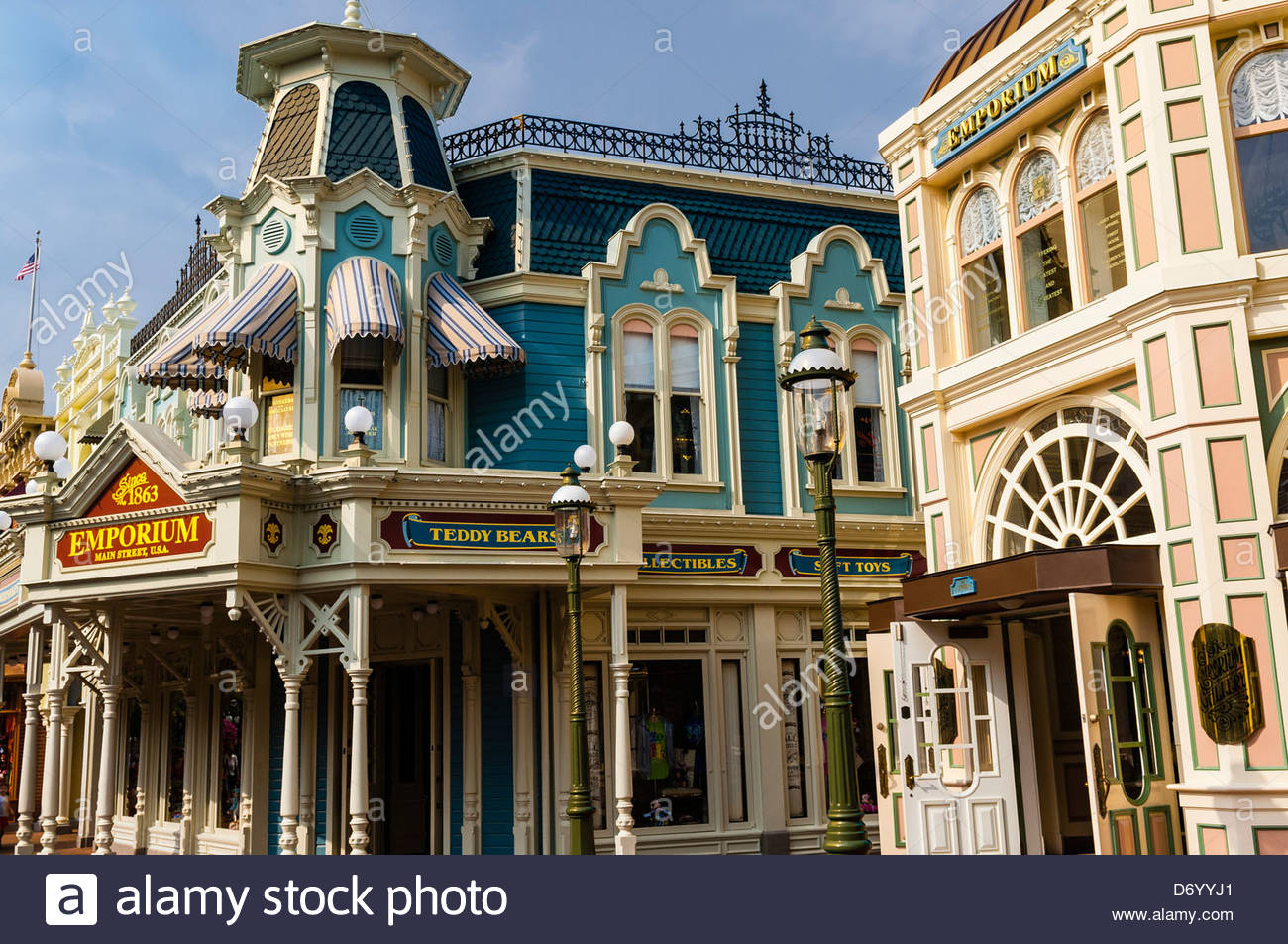 Main Street U.S.A., Magic Kingdom, Walt Disney World, Orlando, Florida USA - Stock Image