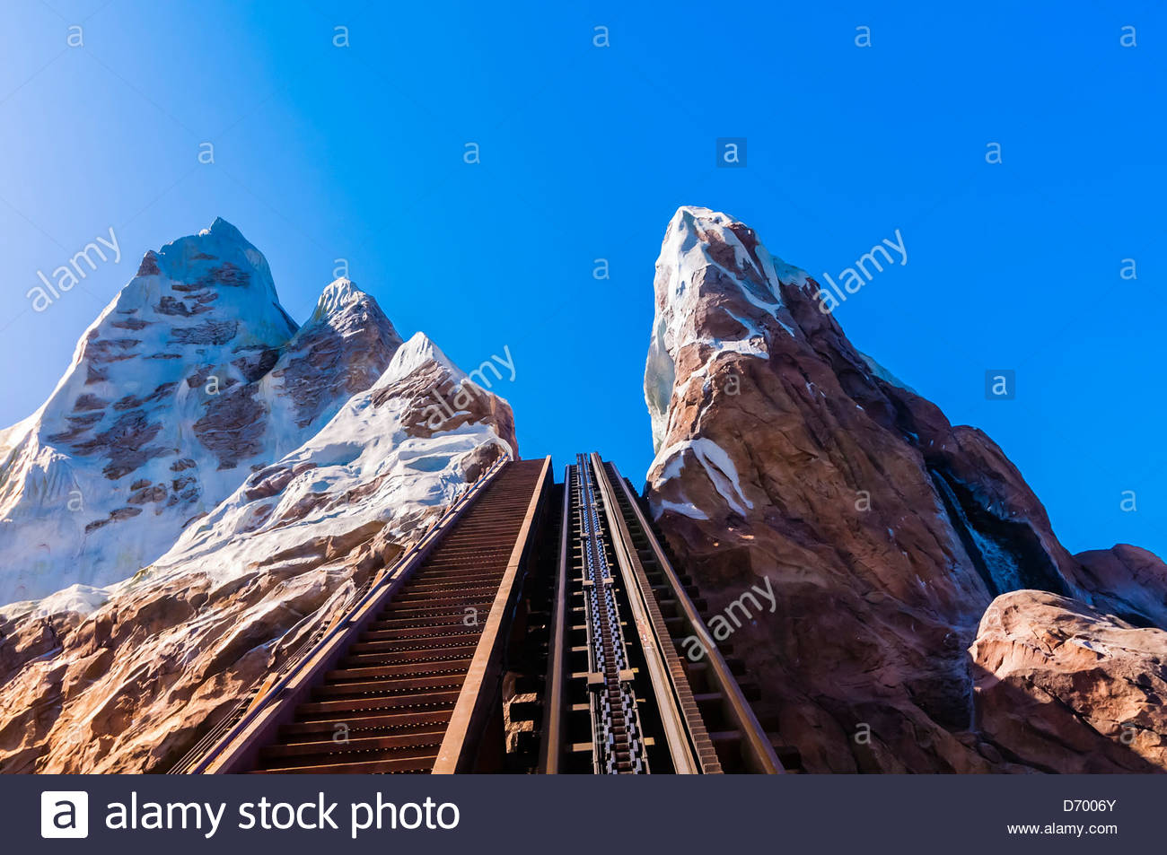 Expedition Everest-Legind of the Forbidden Mountain (rollercoaster ride), Disney's Animal Kingdom, Walt Disney - Stock Image