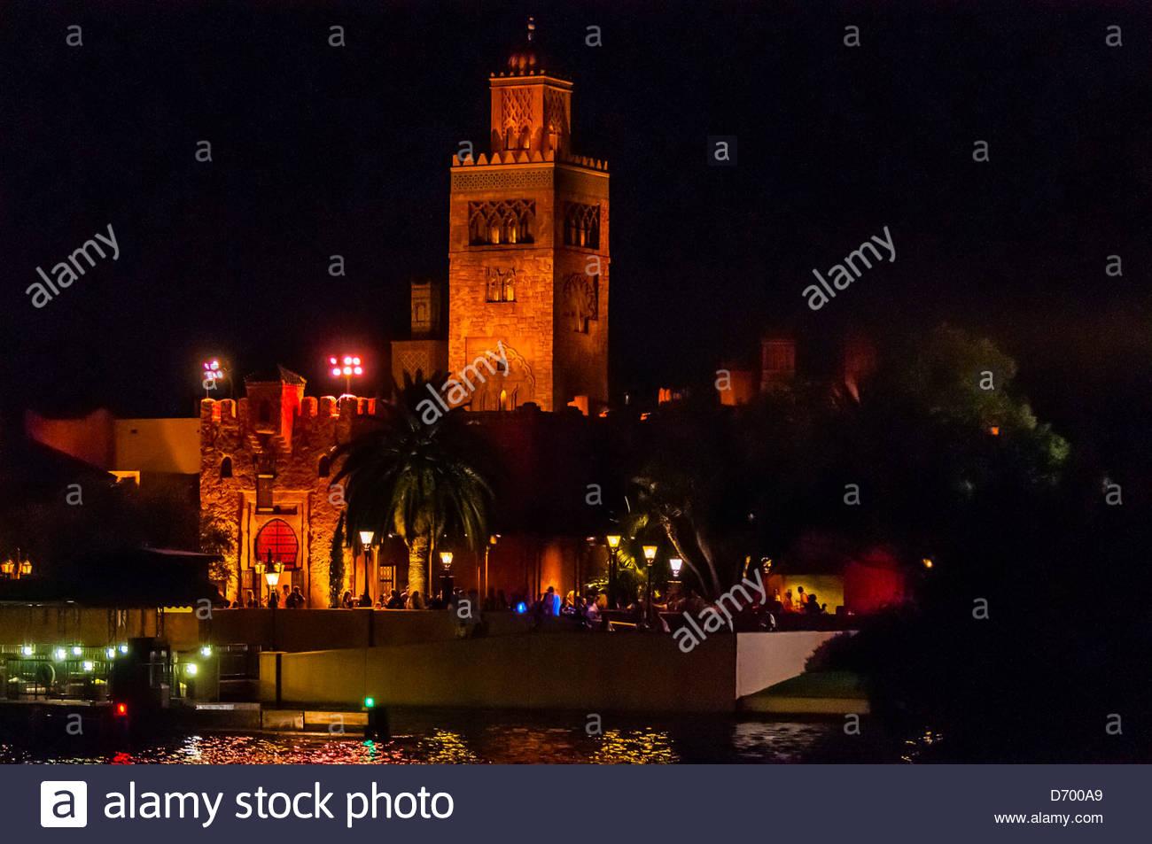 The Morocco Pavilion, World Showcase, Epcot, Walt Disney World, Orlando, Florida USA - Stock Image
