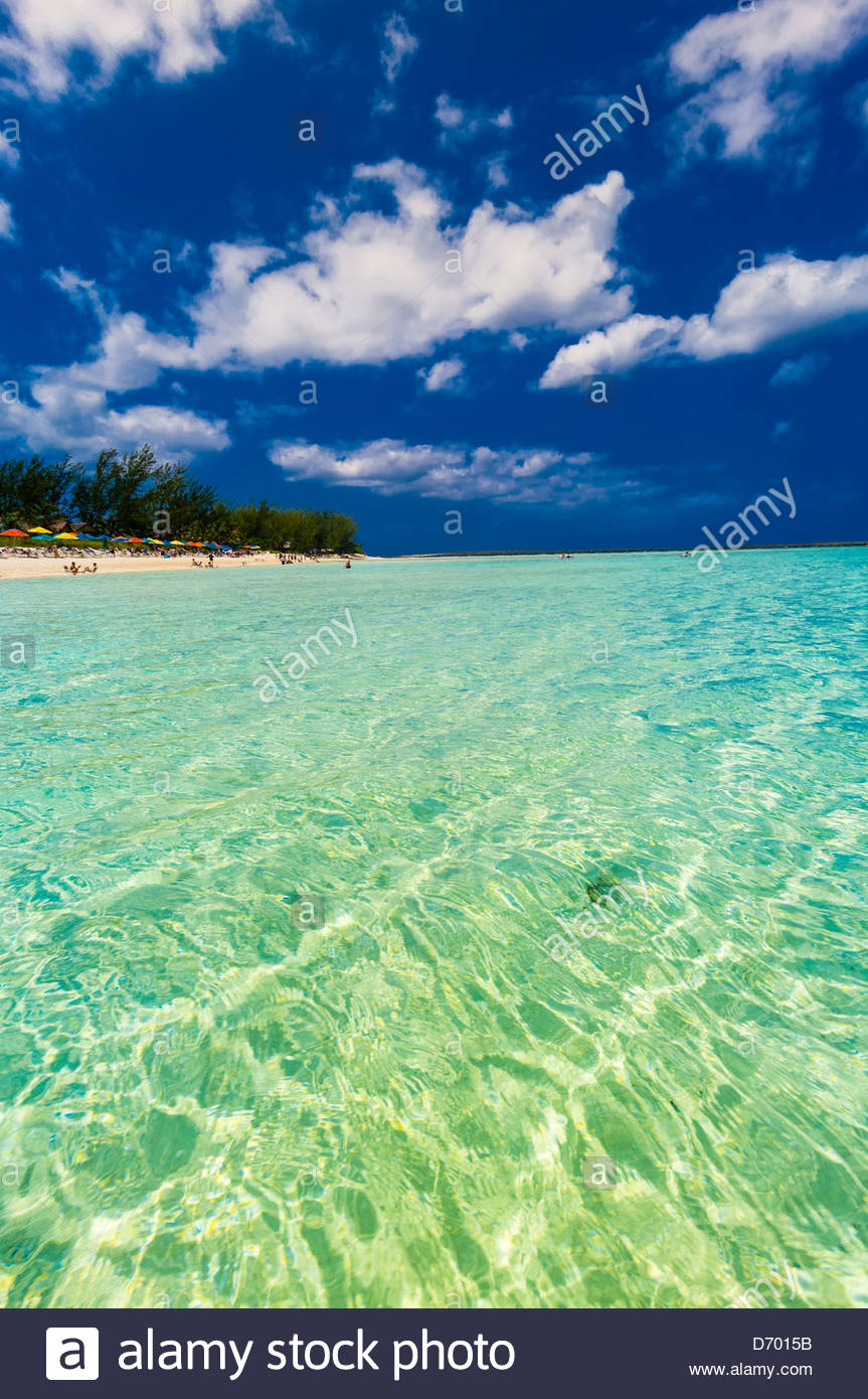 Serenity Bay, Castaway Cay (Disney's private island), The Bahamas - Stock Image