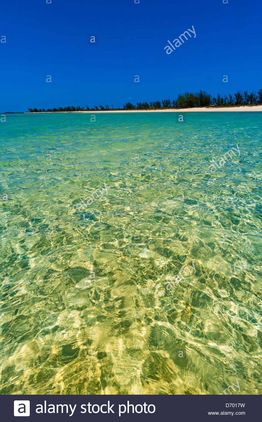 Serenity Bay, Castaway Cay (Disney's private island), The Bahamas - Stock Image