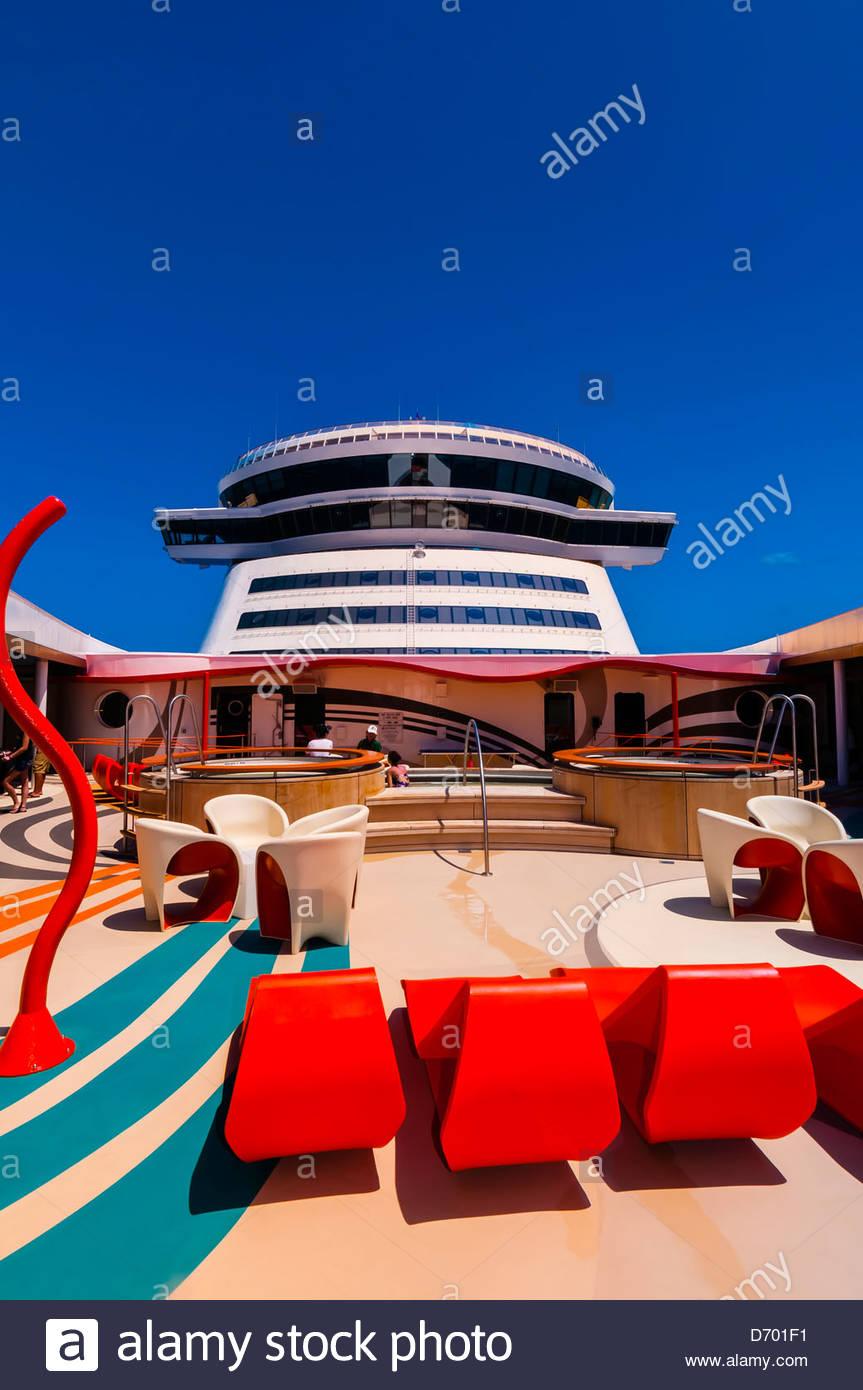 Vibe (teen club) on the new Disney Dream cruise ship sailing between Florida and the Bahamas. - Stock Image