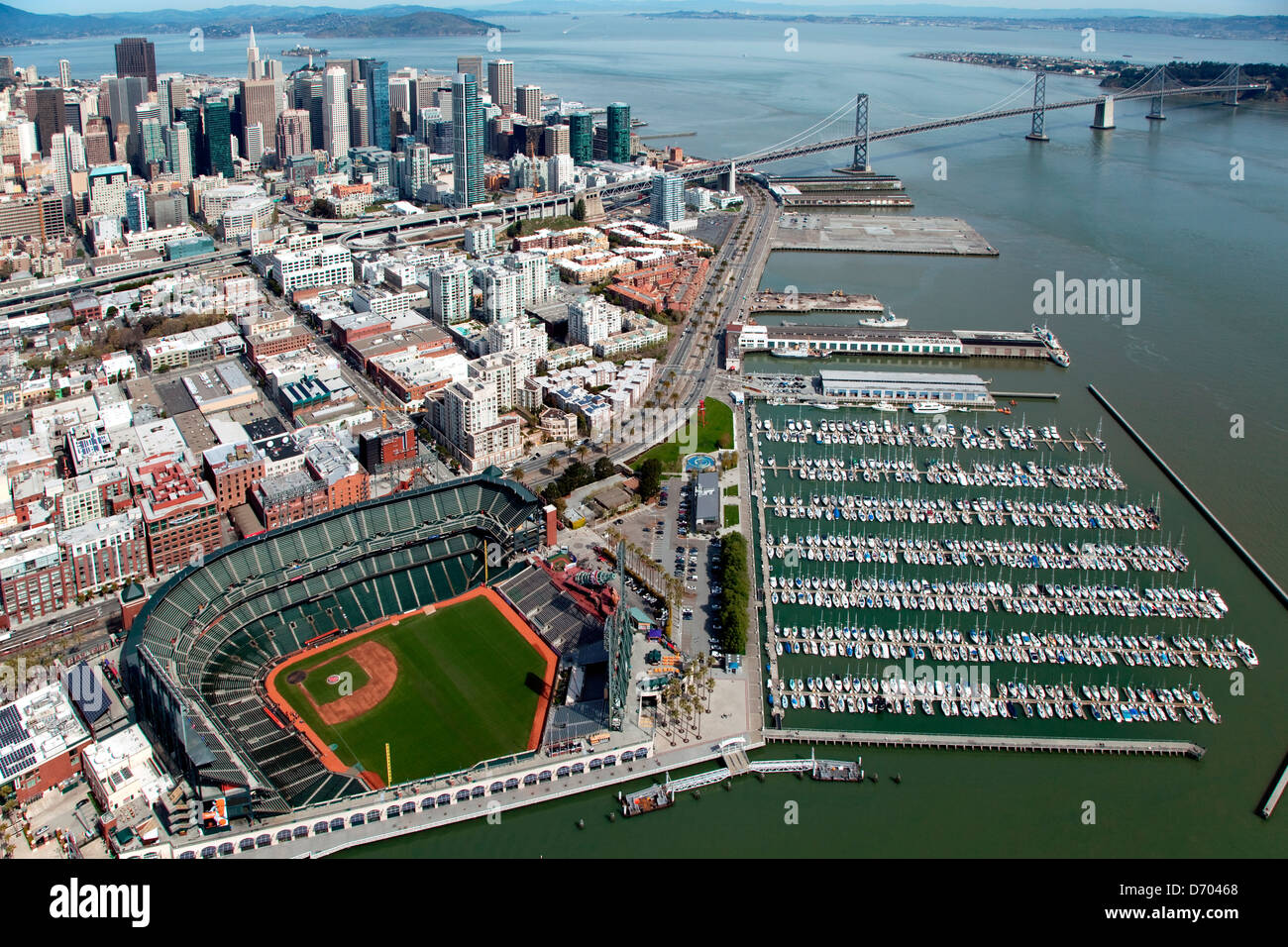 Aerial of the South Beach Neighborhood of San Francisco with Stock