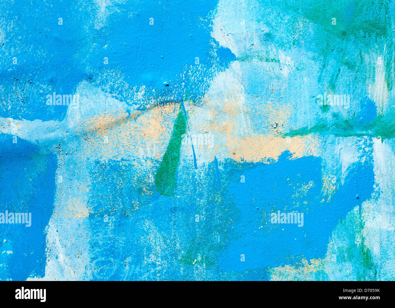 Metal surfaces painted with multicolored paint abstract background - Stock Image