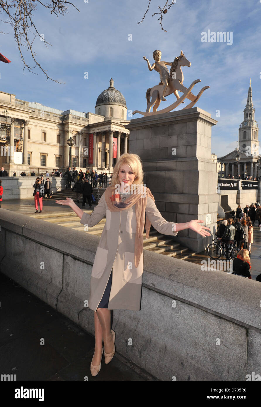 Joanna Lumley Fourth Plinth: Powerless Structures, Fig 101 - unveiling on Trafalgar Square by Scandinavian artistic - Stock Image