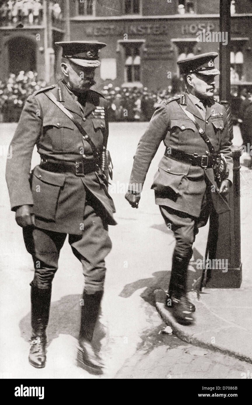 Field Marshal Kitchener, left and Field Marshal Robertson - Stock Image