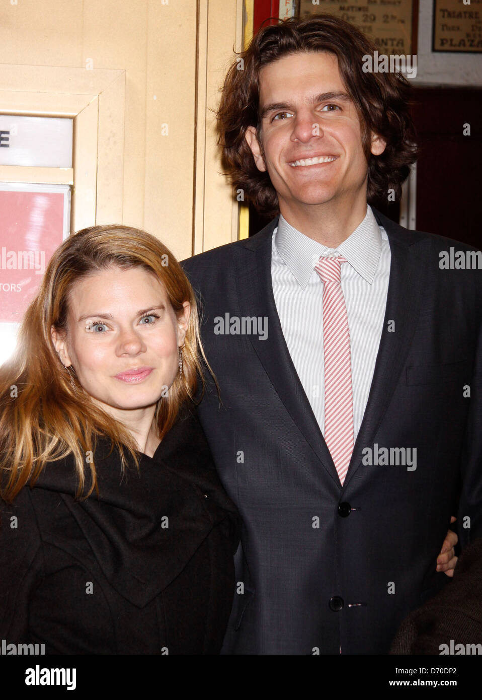 Celia Keenan-Bolger and Alex Timbers Opening night of the MCC production of the musical 'Carrie' at the - Stock Image