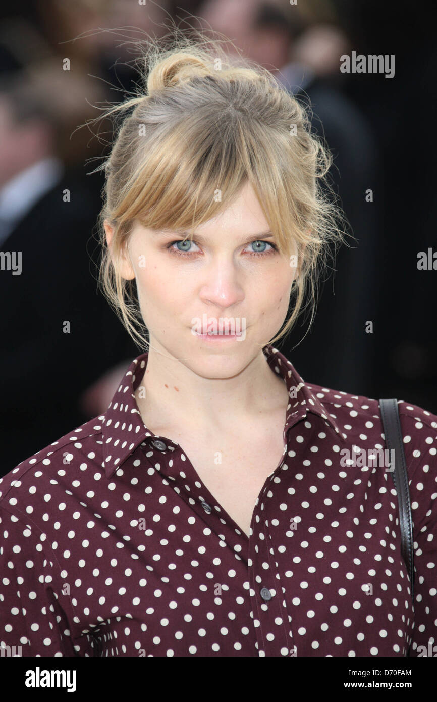 Clemence Posey London Fashion Week - Autumn/Winter 2012 - Burberry - Arrivals London, England - 20.02.12 - Stock Image