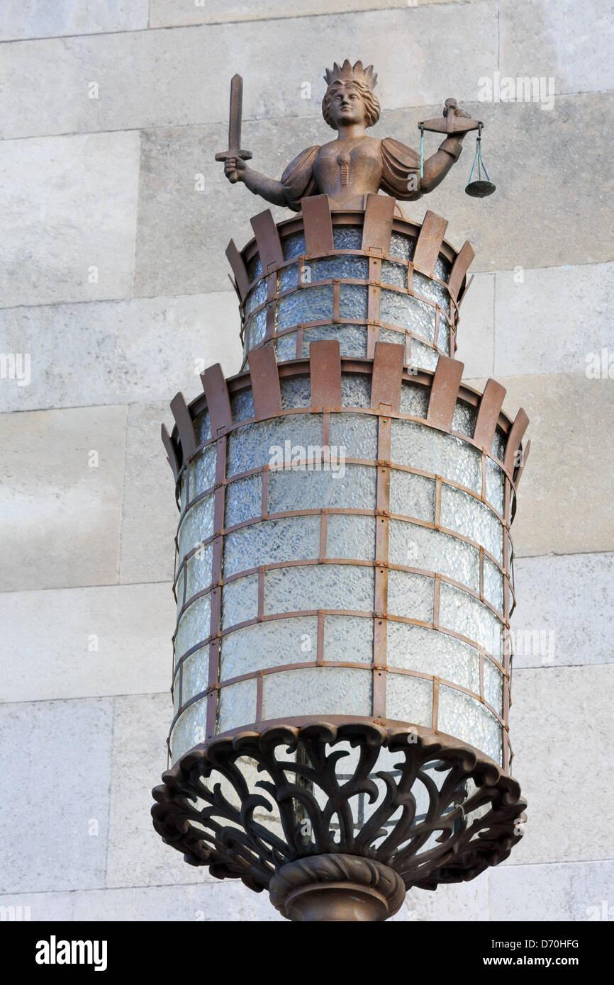 Light detail at Sea City Museum,Southampton,Hampshire County,England,United Kingdom - Stock Image