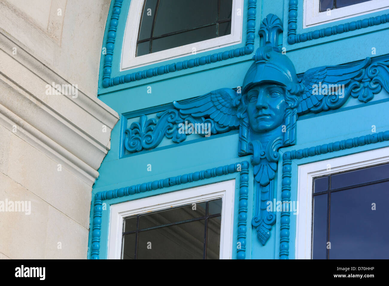 Doorway detail at Sea City Museum,Southampton,Hampshire County,England,United Kingdom - Stock Image