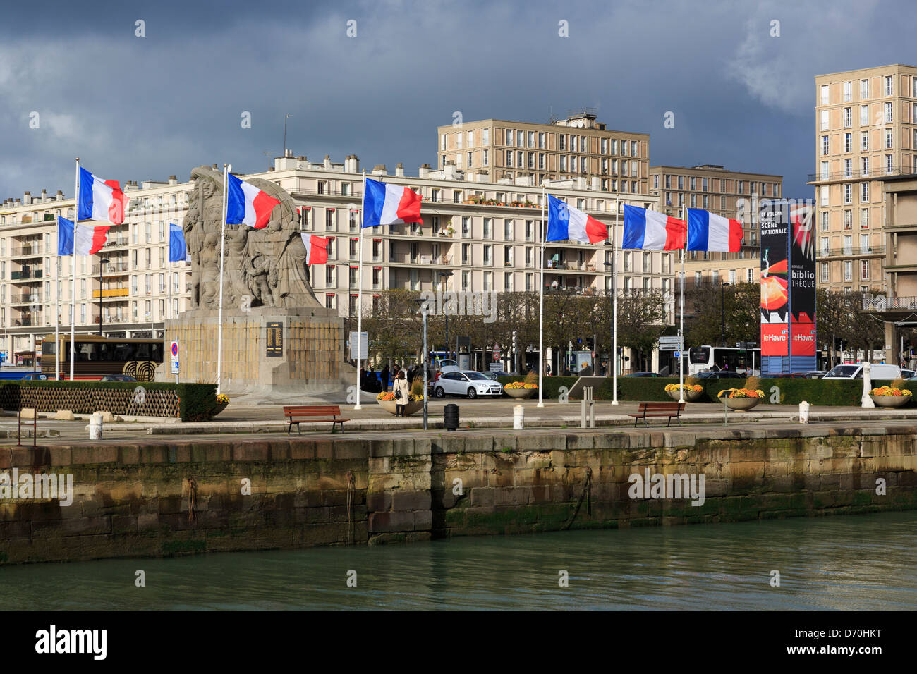 Commerce Basin,Le Havre,Normandy,France,Europe - Stock Image