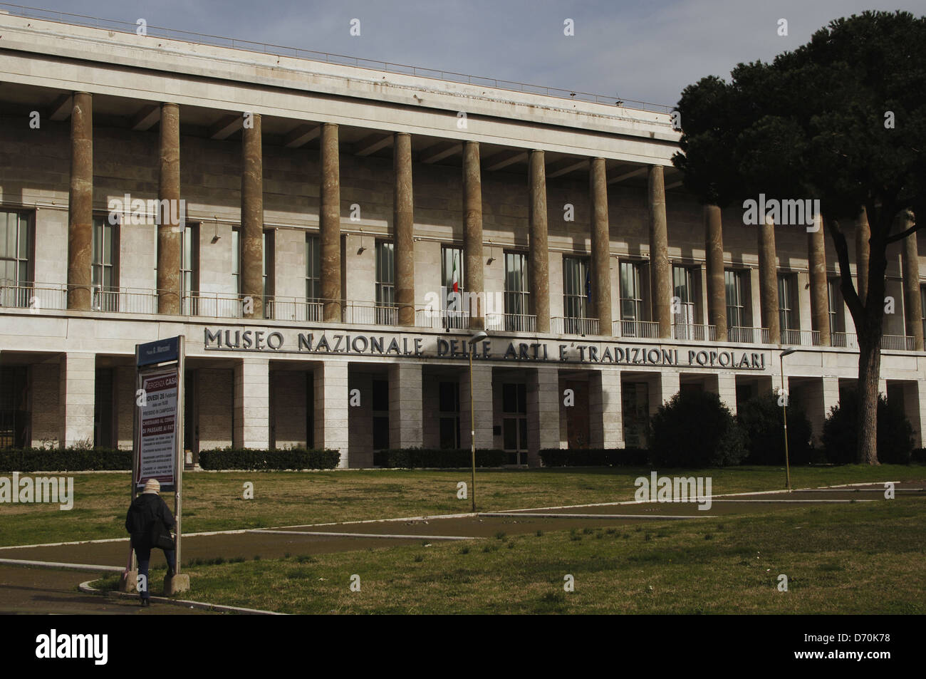 Italy. Rome. National Museum of Popular Arts and Traditions. 1938-1942. Facade. - Stock Image