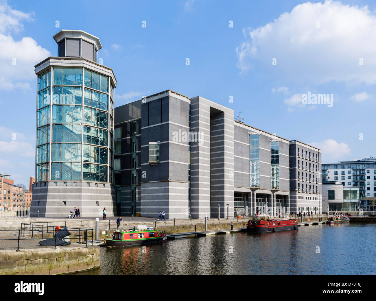 The Royal Armouries Museum at Clarence Dock, Leeds, West Yorkshire, UK - Stock Image