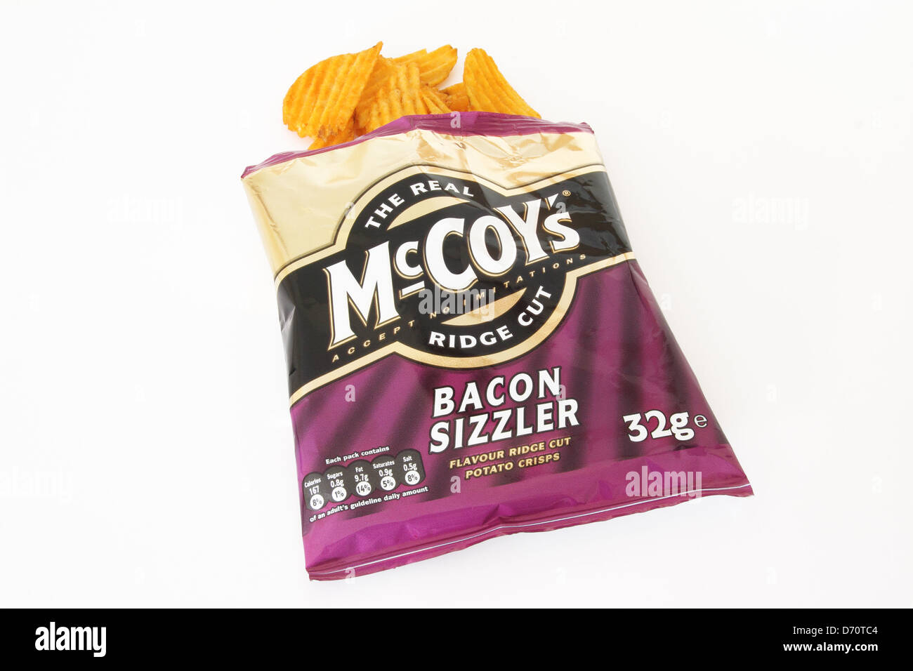 Packet of McCoy's Crisps on a White Background - Stock Image