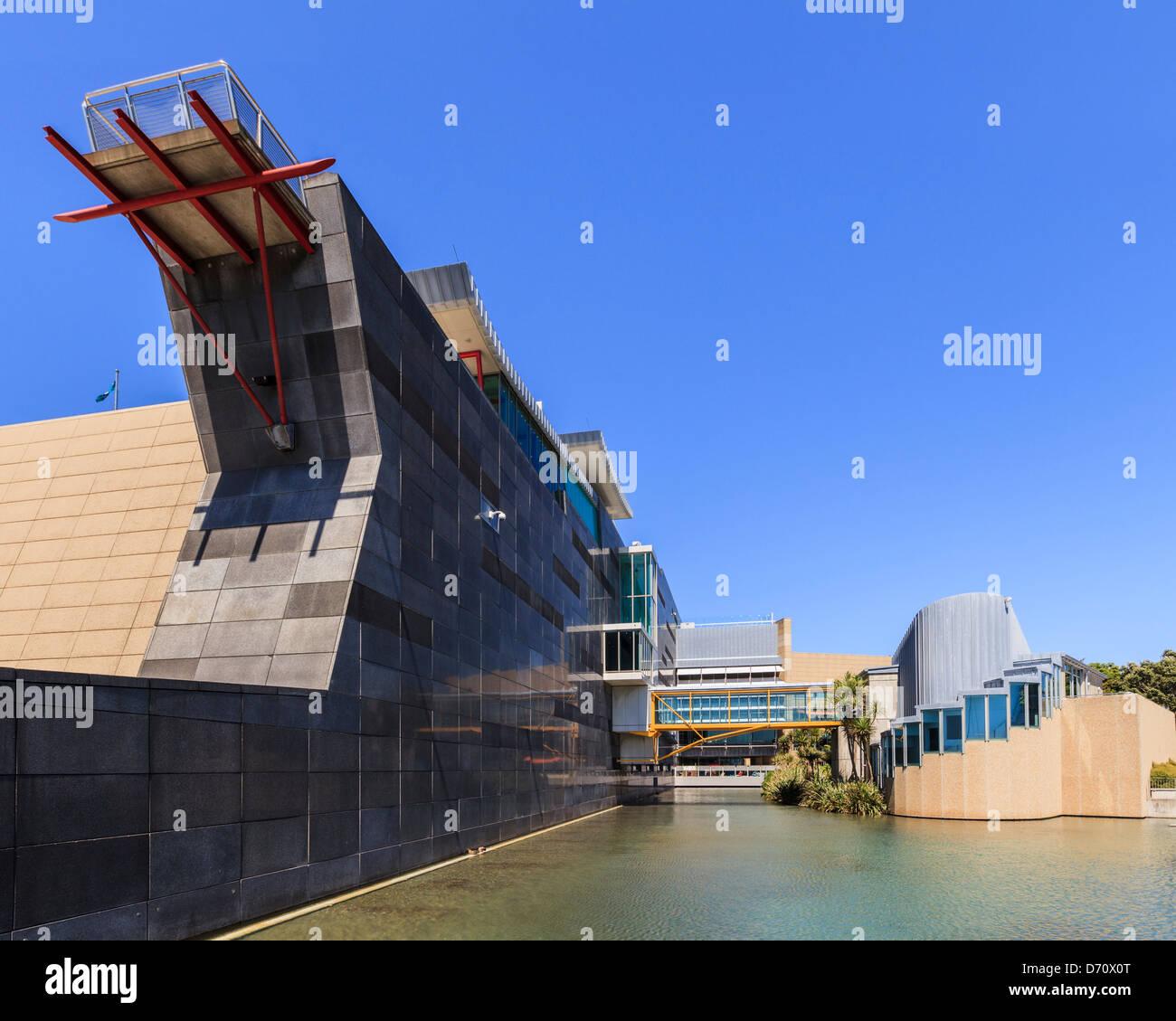 Te Papa, the Museum of New Zealand, Wellington. - Stock Image
