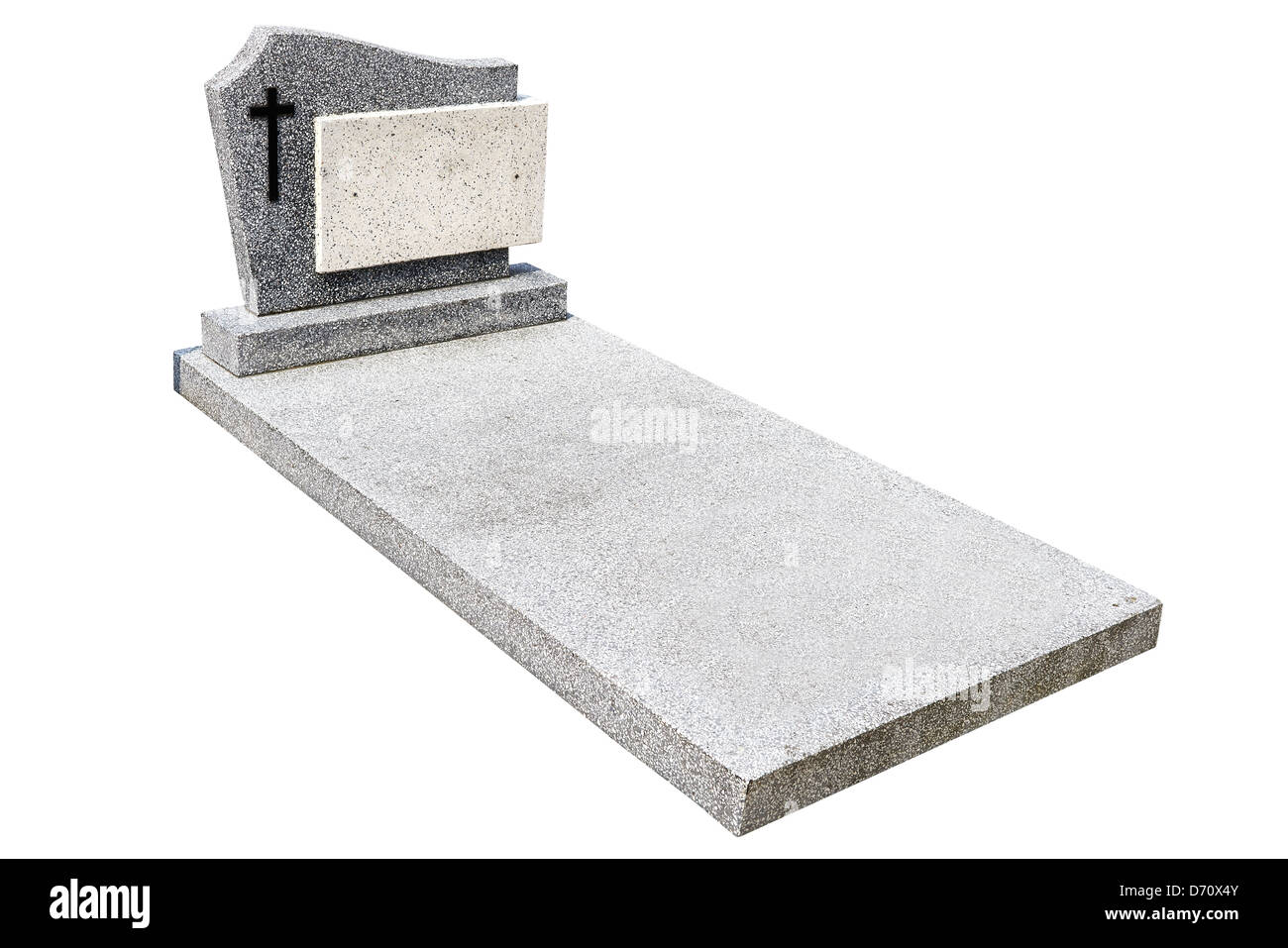 single grave stone cut out (Clipping path) - Stock Image